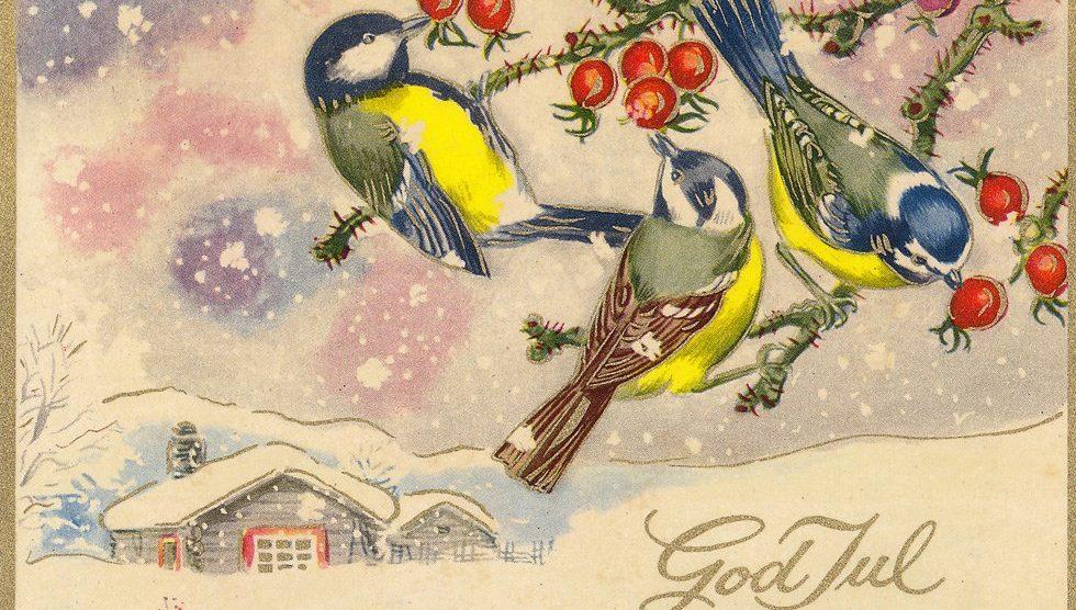 Jul på Finnmarka på 1950-tallet